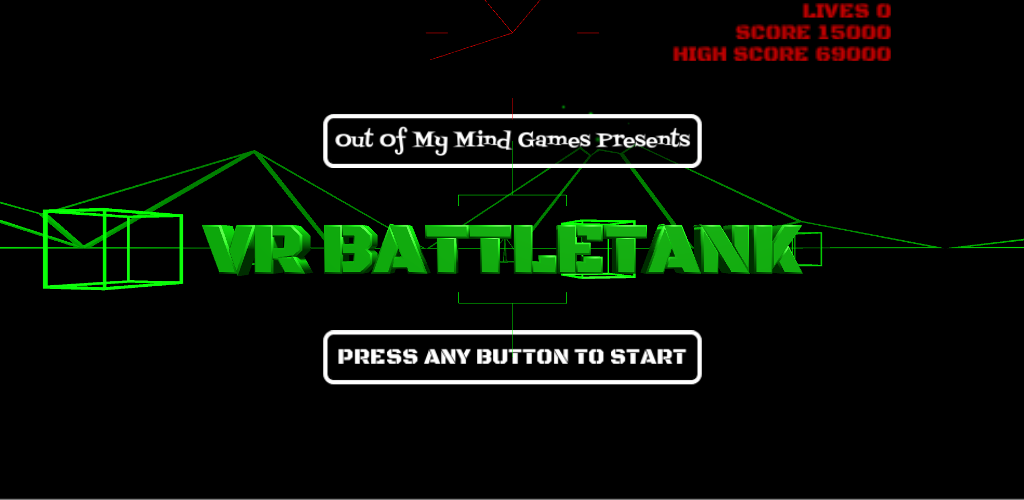 VR Battle Tank Title Screen